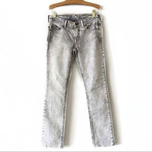 Madewell Grey Rail Straight Jeans